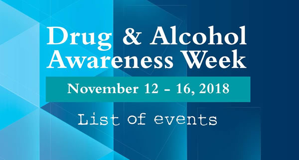 Drug and Alcohol Awareness Week 2018